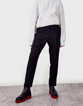 Topshop cigarette trousers in black