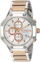 Versus By Versace Men's 'KOWLOON' Quartz Stainless Steel Casual Watch, Color:Two Tone (Model: VSP390717)