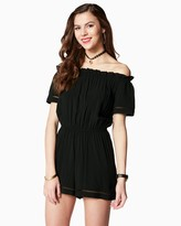 Charming charlie Tennille Off-The-Shoulder Romper