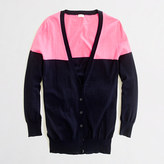 J.Crew Factory Factory summerweight cotton cardigan in colorblock