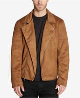 GUESS Men's Faux-Suede Moto Jacket