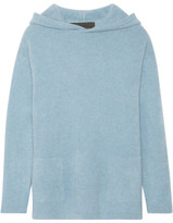 The Elder Statesman Hooded Cashmere Sweater - Light blue
