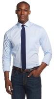 Merona Men's Button Down Shirt Spread Collar Blue L