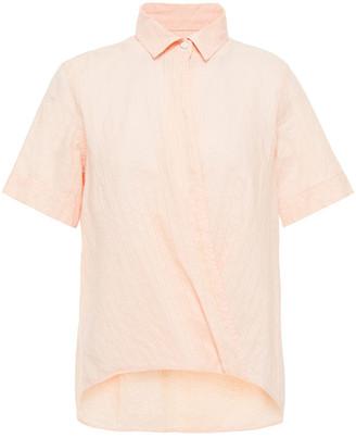 Rag & Bone Kristine Wrap-effect Striped Cotton Top