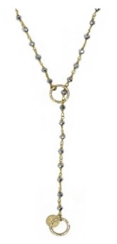 Roberta Sher Designs 14k Gold Filled Stones Handwrapped Single Delight Necklace