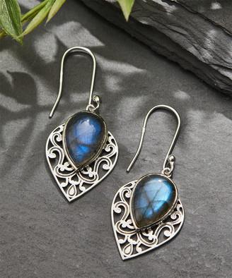 Ys Gems YS Gems Women's Earrings Blue - Labradorite & Sterling Silver Filigree Teardrop Earrings