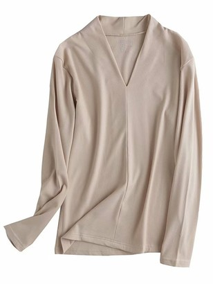 Goodnight Macaroon 'Tiffany' Ribbed V-Neck Thin Long Sleeve Top (6 Colors)