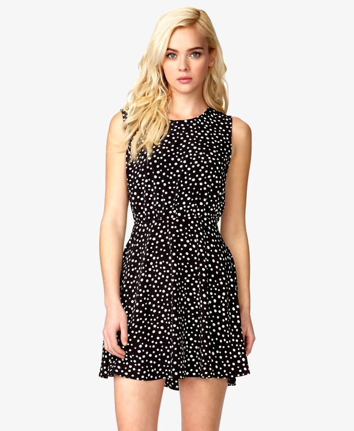Forever 21 A-Line Polka Dot Dress