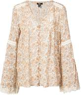 Paige floral long-sleeve blouse