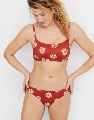 Madewell Second Wave Classic Bikini Bottom in Daisy Daydream