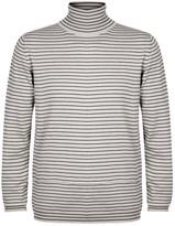 Lanvin Striped Roll-neck Merino Wool Jumper