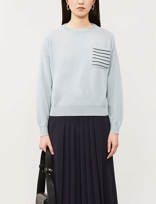 Brunello Cucinelli Bead-embroidered patch-pocket cashmere jumper