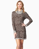 Charming charlie Tribal Cowl Neck Sweater Dress
