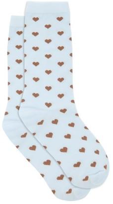 Ganni Polka-dot Socks - Blue Multi
