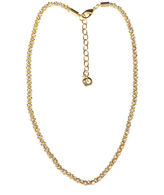 Gloria Vanderbilt Gold-Tone Crystal Mesh Chain Necklace