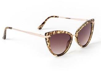 francesca's Mary Tort Cateye Sunglasses - Tortoise