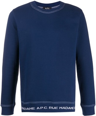 A.P.C. Logo Lined Sweatshirt