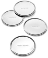 Kate Spade Set of 4 Silver Street Coasters