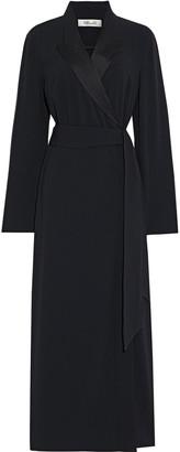 Diane von Furstenberg Jazzy Satin-trimmed Cady Midi Wrap Dress