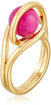 "Trina Turk Psychadelica"" Caged Ball Gold/Pink Ring, Size 7"