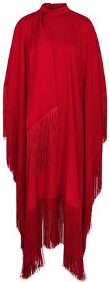 Taller Marmo Mrs. Ross red fringe-trimmed dress