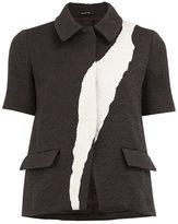 Maison Margiela jacquard short sleeve jacket - women - Silk/Polyamide/Polyester/Viscose - 42