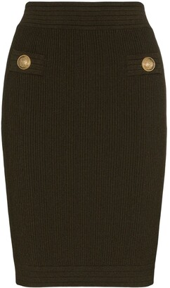 Balmain Knitted Bodycon Skirt