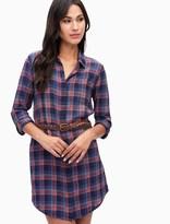 Splendid Indigo Plaid Shirtdress