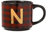 """Threshold N"""" 14oz Stoneware Mug Red Plaid"""