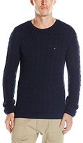 Tommy Hilfiger Men's Cotton Cable Knit Sweater