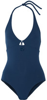 Eres Grigri Wish Halterneck Swimsuit - Storm blue