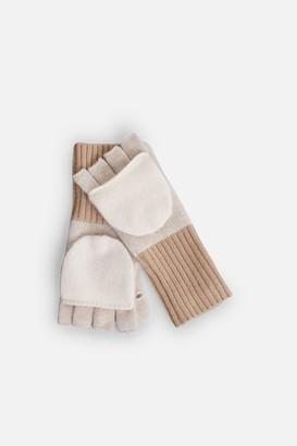 White + Warren 100% Cashmere Pop Top Glove