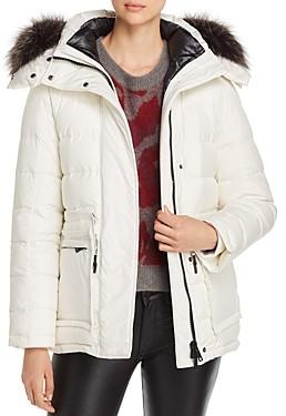 Yves Salomon Fur Trim 2-in-1 Down Coat