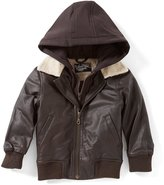 First Wave Little boys 2T-7 Sherpa Collar Jacket