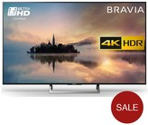 Sony KD49XE7002, 49 Inch, 4K Ultra HD Certified HDR, Smart TV With Freeview - Black