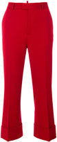 DSQUARED2 straight leg tailored trousers - women - Polyester/Spandex/Elastane/Viscose/Virgin Wool - 38