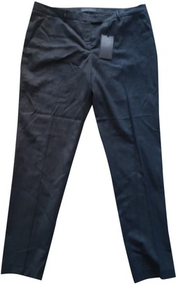 Trussardi Navy Cotton Trousers for Women