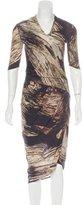 Helmut Lang Marble Jersey Dress