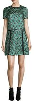 Burberry Patchwork Check Jacquard Dress, Deep Green