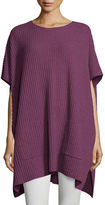 Eileen Fisher Cashmere Ribbed Easy Poncho Sweater