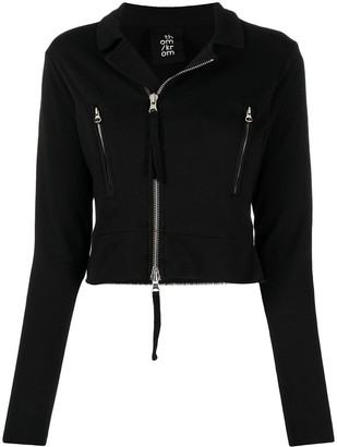 Thom Krom Zip-Up Cropped Cotton Jacket