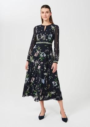 Hobbs Skye Silk Floral Printed Dress