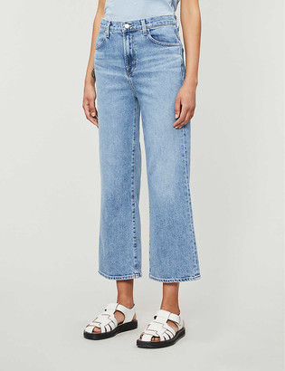 J Brand Joan wide-leg high-rise stretch-denim jeans