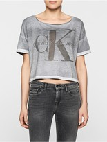 Calvin Klein Teca Cropped Faded T-Shirt
