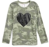 Flowers by Zoe Girl's Lace-Up Heart Camo Sweatshirt
