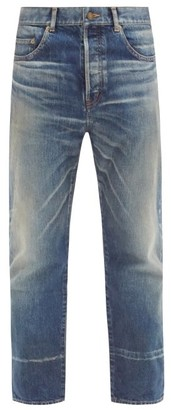 Saint Laurent Straight-leg Cotton-denim Jeans - Blue