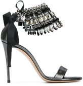 Casadei beaded ankle strap sandals