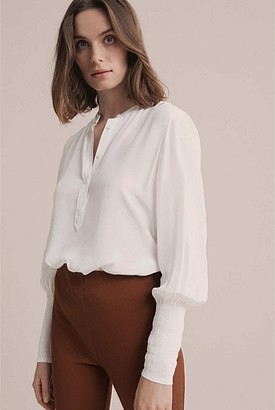 Witchery Shirred Cuff Shirt