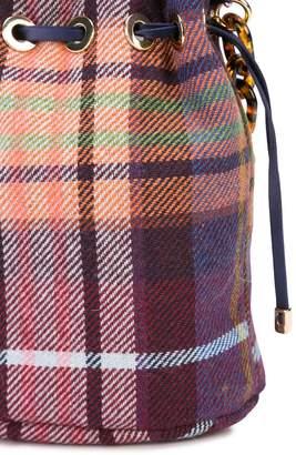 Edie Parker Shorty plaid patterned clutch bag