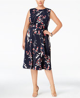 Charter Club Plus Size Floral-Print Midi Dress, Only at Macy's
